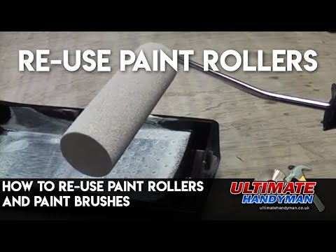 How to re-use paint rollers and paint brushes