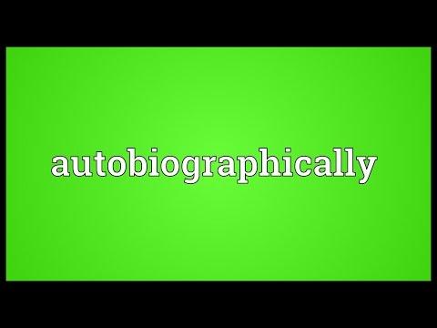 Header of autobiographically