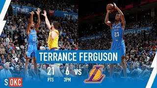 Terrance Ferguson's 6 3-Pointers, Finishing with 21 Points vs Lakers | January 17th, 2019