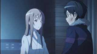Sword Art Online - Kirito and Asuna Hospital scene (HD)