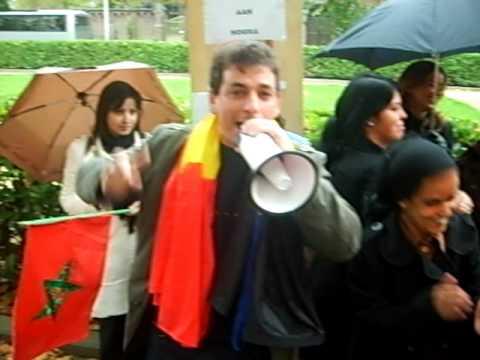 manifestation devant ambassade du maroc a bruxelles contre l
