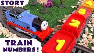 Thomas and Friends Play Doh Numbers Prank with fun counting Toy Train  numbers Logos