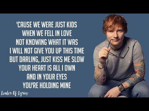 Download Lagu Ed Sheeran - PERFECT (Lyrics) MP3 Free