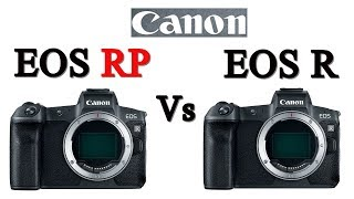 Canon EOS RP vs Canon EOS R