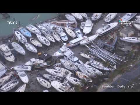 Orkaan Irma: enorme schade op Sint-Maarten zichtbaar vanuit helikopter Defensie