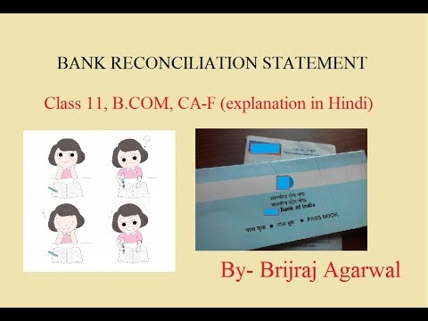 VERY EASY Bank Reconciliation Statement BRS Basics terminology and solving a question Class 11 BCOM