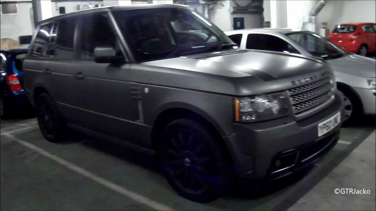 Matte Grey Overfinch Range Rover Vogue Walkaround Youtube