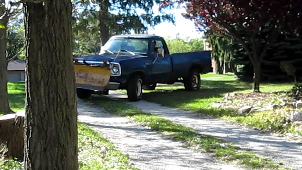 1979 Dodge Powerwagon W150 4x4 With Plow For Sale Youtube