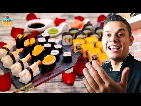 """Семейная кухня, Обзор на: """" Праздничный ужин по японски суши и роллы """""""