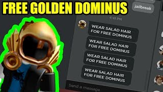 I GOT the GOLDEN DOMINUS for FREE (Roblox)