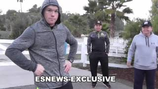 Canelo vs Cotto Alvarez In Killer Shape - Runs Hills With Elevation Mask EsNews Boxing