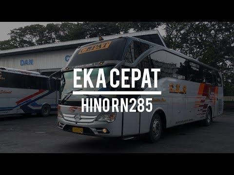 Naik EKA CEPAT Double Glass Hino RN285 Jogja - Surabaya
