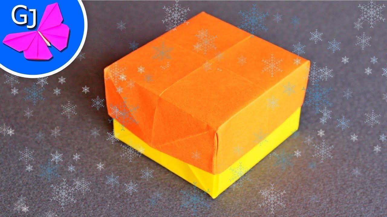 Оригами коробочка с крышкой видео