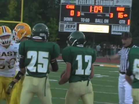 Zeeland West vs. Zeeland East high school football highlights