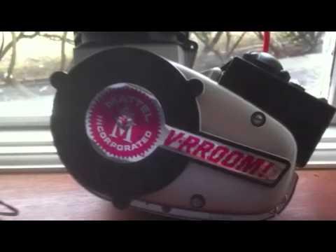 Mattel 1963 V Rroom Hot Rod Bike Engine Toy Motor Loud