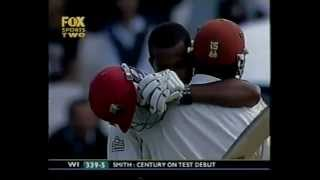 Dwayne Smith 105* vs South Africa TEST DEBUT 3rd test 2003/04