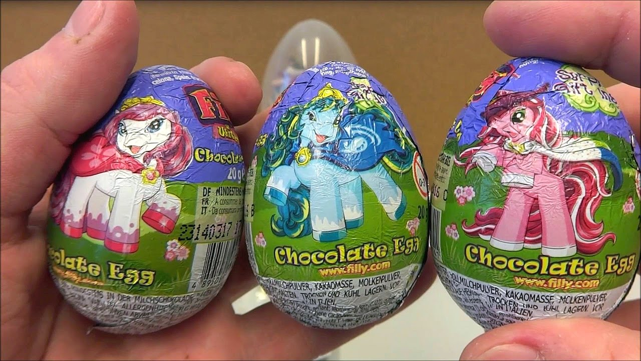 Sticker unboxing - Little Filly Horse Giant Surprise Eggs Amp Toys Set Unboxing