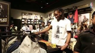 NBA Superstar Kenneth Faried at JACK & JONES store, Gurgaon