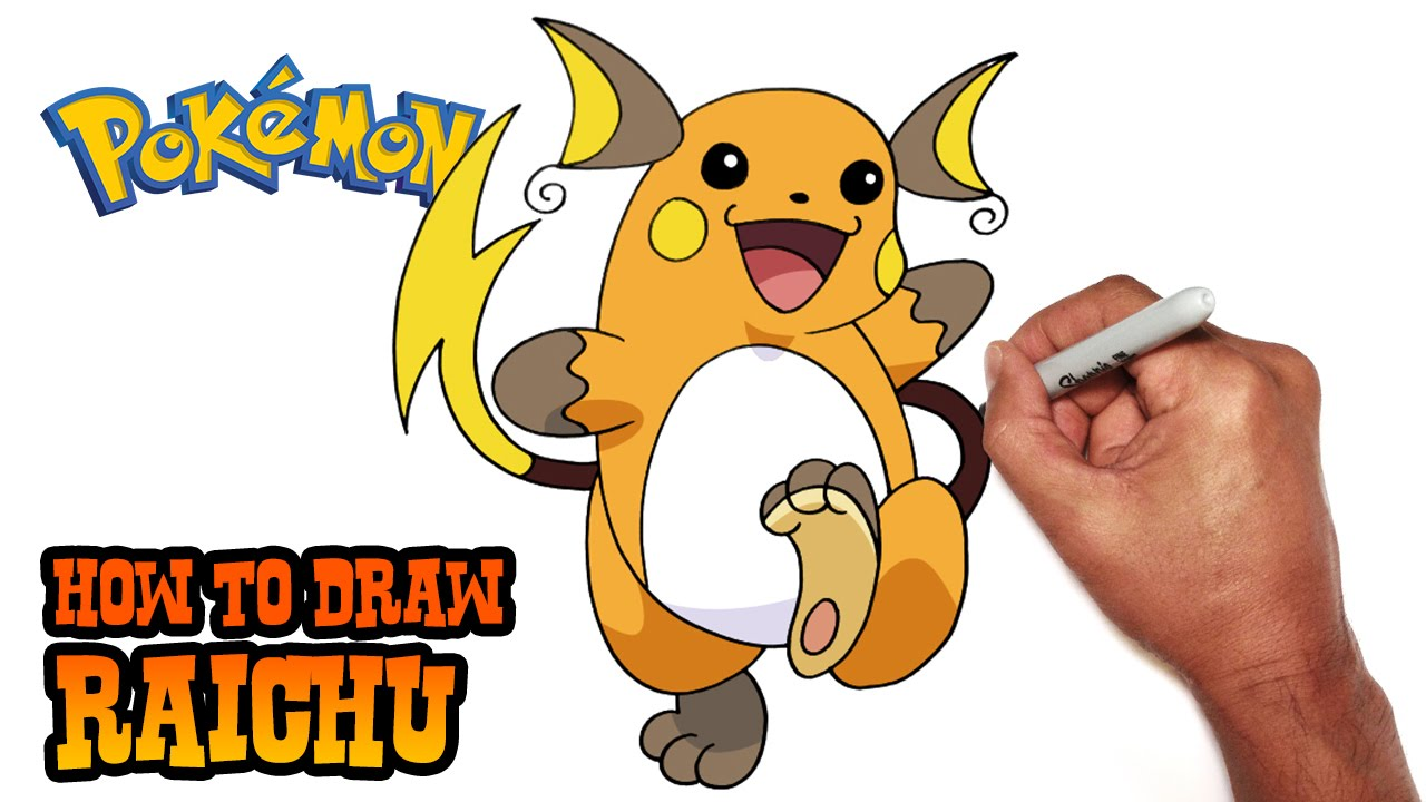 Pokemon Raichu Drawing How to Draw Raichu Pokemon