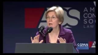 Elizabeth Warren DESTROYS Donald Trump During ACS Convention