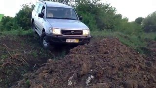 Съезд с холма toyota land cruiser 105 down hill