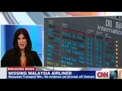 Malaysia Airlines Crash Missing  Flight 370, Boeing 777 with 239 Onboard