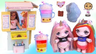 Slime Shakes For Unicorns At American Girl Drink Stand ! Num Noms Silly Shakes