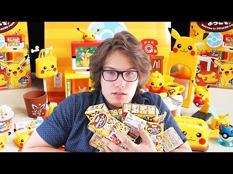 Opening 11 Mystery Mini Pikachu Furniture Boxes - Pikachu Room