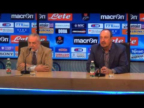 La conferenza stampa di addio di Rafa Benitez al Napoli