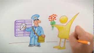 """День почты (открытка). Поздравления с днем почты от ТК """"Надії""""!"""