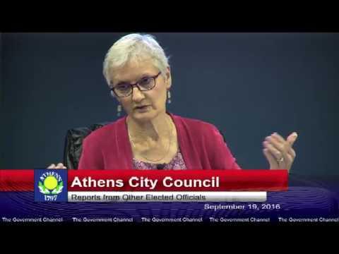 Athens City Council 09-19-16 - City of Athens Ohio Live Stream