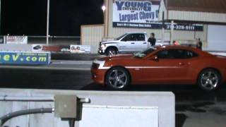 2006 Dodge Ram  Hemi QC vs 2010 Chevy Camaro SS.. Spank that Puppy