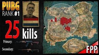 PUBG Rank 1 - ibiza 25 kills [EU] Solo FPP - PLAYERUNKNOWN'S BATTLEGROUNDS