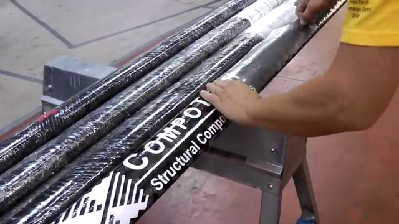 CompoTech DN Ice Boat Carbon Mast - YouTube