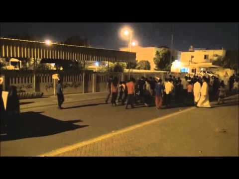 Bahrain : Police Attack Fifth Anniversary Of The Martyr Abdul Karim  Memorial march With Tear Gases