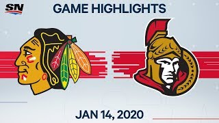 NHL Highlights | Blackhawks vs. Senators – Jan. 14, 2020