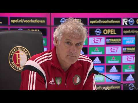 Persconferentie Feyenoord-trainer Fred Rutten