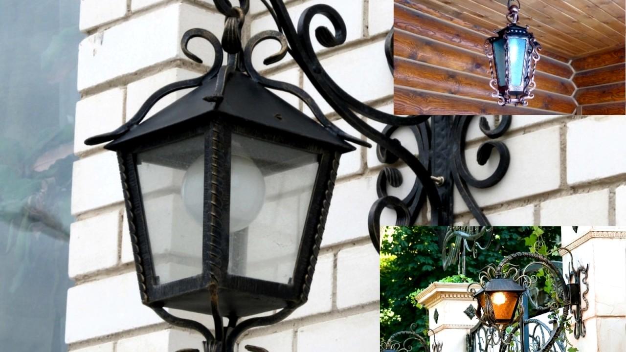 Уличные настенные фонари своими руками 86
