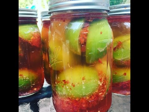 Фаршированные ОСТРЫЕ зеленые помидоры