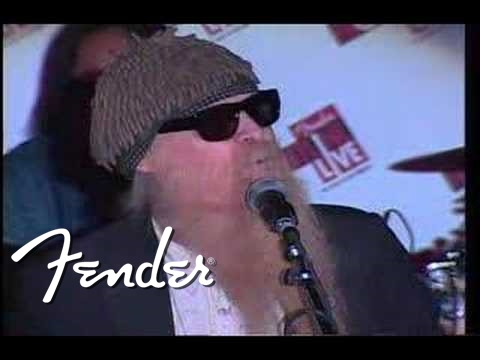 Billy Gibbons performing at Fender NAMM 2008 Gala (3)