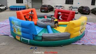 Life size giant human inflatable hungry hippo game for kids N adults interactive entertainment