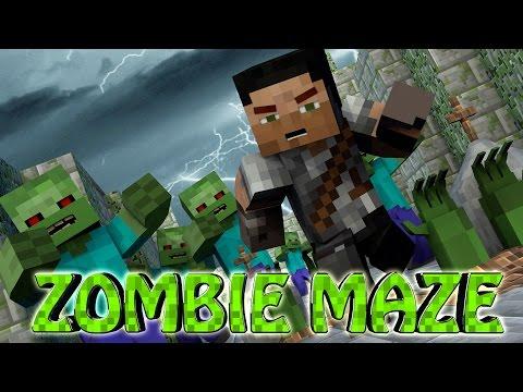 Minecraft | MAZE CHALLENGE SURVIVAL - ZOMBIE APOCALYPSE Challenge Part 10! (Zombies)