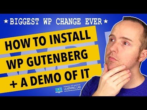 Wordpress Gutenberg Demo - The Biggest Change In The History Of WordPress?