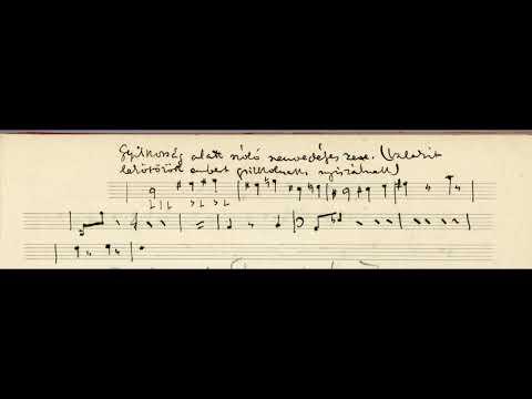 """""""Gyilkosság alatt szóló szenvedélyes zene."""" - Csáth Géza (kottatöredék)"""