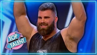 TOP 10 Strong Men Auditions on Got Talent | Top Talent