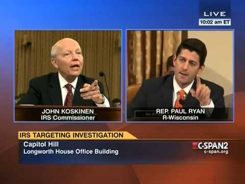 Paul Ryan blasts IRS commissioner: 'I don't believe you'