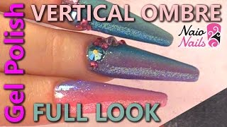 Vertical Gel Polish Ombre Full Look