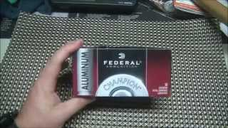 Federal Aluminum Case 9mm Ammo Reliability Test