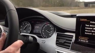 304 km/h (189 mph) on German Autobahn - Audi S8 Plus