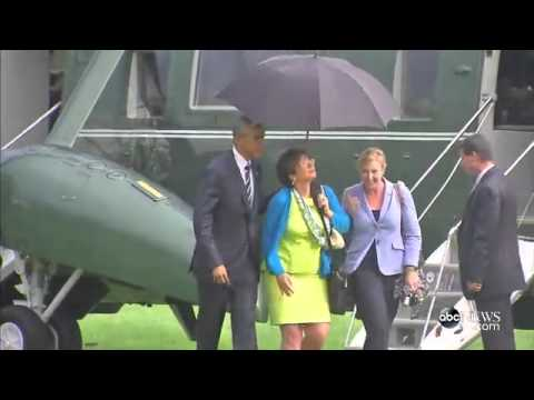 Humility; What happens when you're the president of the United States, it's raining...